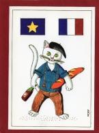 ILLUSTRATEUR JM PETEY  LES 12 DE L'EUROPE LA FRANCE  CHAT - Petey