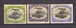 Papouasie  -  1906  :  Mi   9...12  *    3 Valeurs - Papua New Guinea