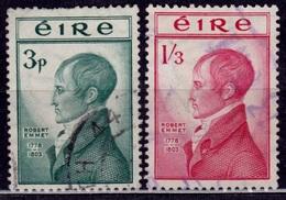 Ireland 1953, Robert Emmet Anniversary, Sc#149-150, Used - 1949-... Republic Of Ireland