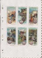 6AI3732 CHROMO  DIGNOWITYS KRONEN GARN    Lot De 6 Collé Sur Une Feuille - Trade Cards