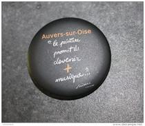 """Badge """"Auvers-sur-Oise / La Peinture Promet De Devenir + Musique ?...  Vincent"""" Vincent Van Gogh - Pin's - Epinglette - Andere Verzamelingen"""