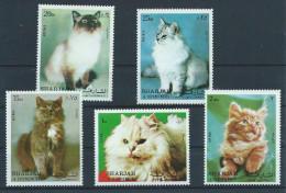 Sharjah Série Complète Neuve Avec Chats - Gatti