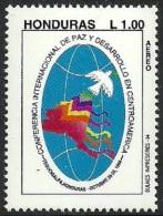 HONDURAS 1994 PEACE & DEVELOPMENT CONFERENCE BIRDS DOVE MAP SINGLE SET MNH - Honduras
