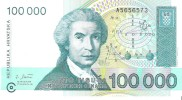 Croatia - Pick 27 - 100.000 (100000) Dinara 1993 - Unc - Croazia