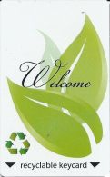 Generic Welcome Recyclable Key Card - Hotel Keycards