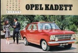 RARE 60s PORTUGUESE EDITION CAR CATALOGUE PORTUGAL OPEL KADETT RALLYE - Catálogos