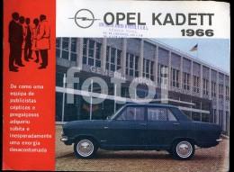 RARE 1966 PORTUGUESE EDITION CAR CATALOGUE PORTUGAL OPEL KADETT - Catálogos