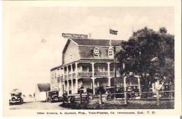 Hotel Victoria, A. Dumont, Prop., Trois-Pistolers, Co., Temiscouata, Quebec. - T. 37 - Quebec
