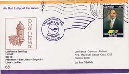 Colombia - Bolivia 1981, Lufthansa First Flight, Bogota-Lima-LaPaz With DC10 - Bolivia