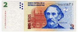 ARGENTINA 2 PESOS ND(2008) SERIES J Pick 352 Unc - Argentina