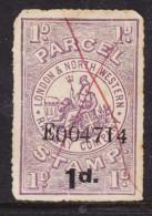 Great Britain: Queen Victoria Era, Londo & North Western Railway Parcel Stamp, , 1d On 1d Used - 1840-1901 (Victoria)
