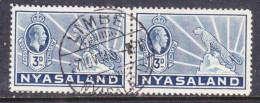 Nyasaland: George V 1934, 3d, LIMBE NYASALAND 27 NOV 34 C.d.s. - Nyassaland (1907-1953)