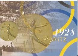 Switserland - Postal Stationary - The Swiss Post In Nagano - St.Moritz 1948 : Kunstschaatsen - Winter 1998: Nagano
