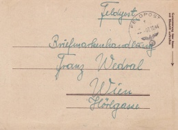 Feldpost WW2:  From A Jäger In A Lazarett Asking For Stamp News - 5. Kompanie Jäger-Regiment 56 FP 00333F P/m 7.10.1944 - Militaria
