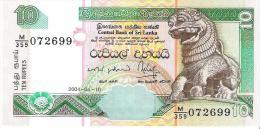 Sri Lanka - Pick 115b - 10 Rupees 2004 - Unc - Sri Lanka