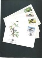 REPUBLIQUE DOMINICAINE WWF FDC 24/04/84 Mi 794-797 OISEAUX ET PERROQUETS - W.W.F.