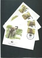 SRI LANKA WWF FDC 05/08/86 Mi 768-771 ELEPHANTS - W.W.F.