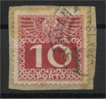 LIECHTENSTEIN FORERUNNER 10H DUE STAMP FROM AUSTRIA - Liechtenstein