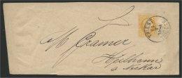 AUSTRIA, 2 KREUZER WRAPPER I1882 N GOOD CONDITION, FROM TRIESTE TO HEILBRONN - Briefe U. Dokumente
