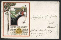 AUSTRIA, SCHÜTZENPLATZ 1898 ON CARD WITH MATCHING TOPIC - Covers & Documents