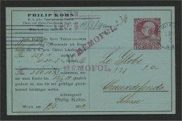 AUSTRIA, PRIVATE POSTCARD 10 HELLER 1914 TO SWITZERLAND - 1918-1945 1st Republic