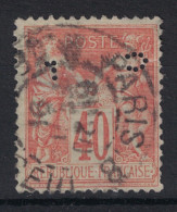 PERFORATION CL Sur Timbre Type Sage N°94 Obliteration Paris 1891 - A VOIR (perfin Perfins Ancoper) - France