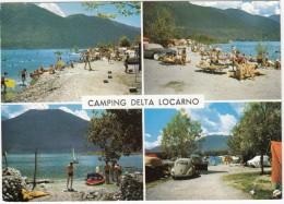 Locarno: VW 1200 KÄFER/COX, CAMPING ´DELTA´ - (Schweiz/Suisse/CH) - Postkaarten