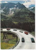 Strada Del San Gottardo:  OPEL REKORD-A, PEUGEOT 404, FORD 15M, CITROËN DS, MERCEDES -Gotthardstrasse- (Schweiz/Suisse) - Postkaarten