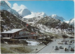 Susten-Kulm: VW 1200 KÄFER/COX (SPLIT), DKW 3=6, FORD 17M P2, CHEVROLET '51 - Quick Buffet - (Schweiz/Suisse) - Postkaarten