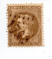 YT 30 - Napoléon - Variété Fond Ligné BEAU !!! Et Sur Le Cadre - GC 1768 Hautmont 59 - 1863-1870 Napoléon III Lauré