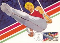 USA LOS ANGELES 1983 MAXIMUN POST CARD  ATHLETIC SPORT (SET160272) - Cartoline Maximum