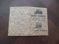 Plaquette Horaire Grenoblois Chemins De Fer Et Tramway 1921 été. Cartonné Imprimerie Prudhomme Grenoble Train Locomotive - Europe