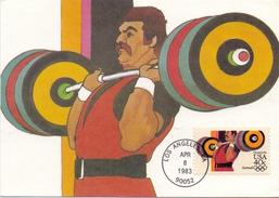 USA LOS ANGELES 1983 MAXIMUN POST CARD  (SET160277) - Cartoline Maximum
