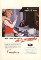 Publicité- Les Photocopieuses- 1959-cpm Repro - Werbepostkarten