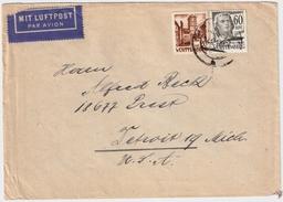 Würrt. Portogerechter Luftpost-Brief, Nach USA , #6052 - French Zone