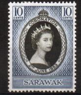 Sarawak A Stamp To Celebrate The Coronation Of Queen Elizabeth. - Sarawak (...-1963)