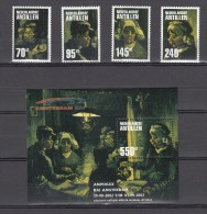 Ned Antillen Antilles 2002,4V + Block,Vincent Van Gogh,paintings,Kröller Museum,MNH/Postfris(L2590)) - Impressionisme