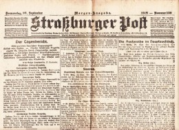 Straßburger Post - 1918 - Nummer 529 - Revues & Journaux