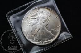 United States 1991 American Silver Eagle Dollar 1 Oz Fine Silver - 1979-1999: Anthony