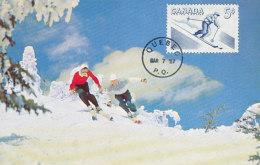 D25670 CARTE MAXIMUM CARD FD 1957 CANADA - SKIING DOWNHILL CP ORIGINAL - Skiing