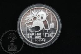 1989 China 1 Oz .999 Sliver Panda 10 Yuan - China