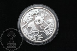1992 China 1 Oz .999 Sliver Panda 10 Yuan - Chine