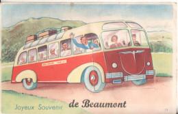 95 Beaumont Sur Oise  Joyeux Souvenir Carte A Systeme  Avec Depliant 6 Vues - Beaumont Sur Oise