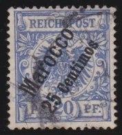 Deutsches  Reich  -  Marokko     .      Michel     4          .          O          .              Gebraucht - Bureau: Maroc