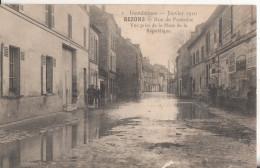 95 Bezons Inondation 1910  Rue De Pontoise - Bezons