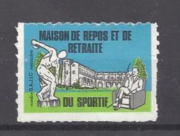 FRANCE --- ERINOPHILIE --- Vignette Maison De Repos Et De Retraite Du Sportif - Commemorative Labels