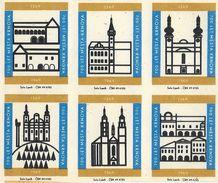 Tchécoslovaquie - Série 6 Etiquettes Boites D'Allumettes (Štítky Matchbox) 700 Let Mesta Krnova 1269-1969 - Solo Lipnik - Matchbox Labels