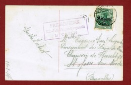 Freigegeben Mil. Post Überwachungsstelle Mechelen Op Kaart Mechelen - St Joost Ten Noode 1917 - Other Covers