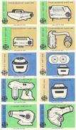 Tchécoslovaquie - Série De 10 Etiquettes ( Štítky Matchbox) Bor (Stolni Osusovac Vlasu Van) - Solo Susice CSN - Matchbox Labels