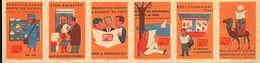 Tchécoslovaquie - Série De 6 Etiquettes De Boites D'Allumettes (Štítky Matchbox) (Poste) - Solo Lipnik - Matchbox Labels